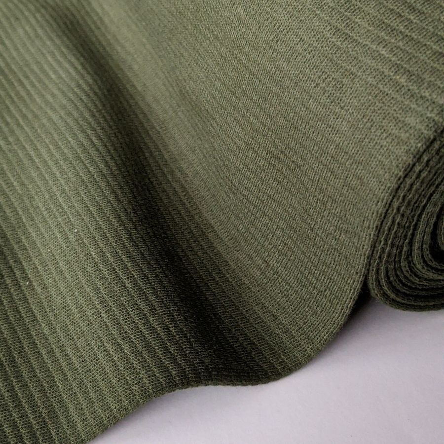 Mind the Maker Ottoman wool fabric in khaki