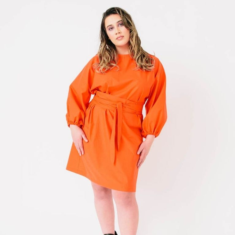 Papercut Patterns Array dress in orange2