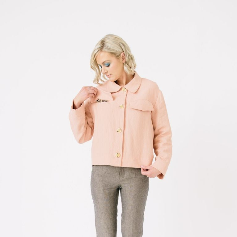 Papercut Patterns Stacker Jacket in pink