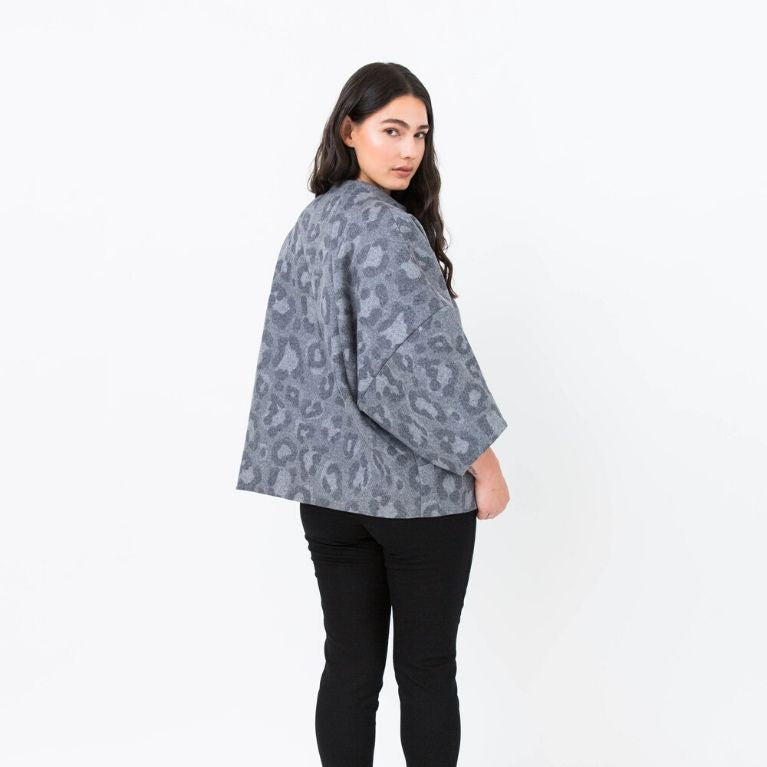 Papercut patterns Sapporo jacket cropped back view