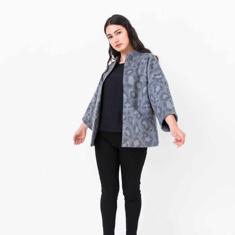 Papercut patterns Sapporo jacket cropped front view