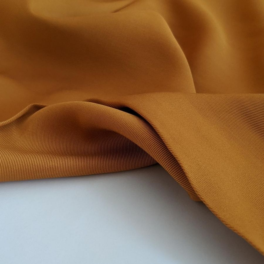 Sanded Tencel Twill in Golden Tan third view