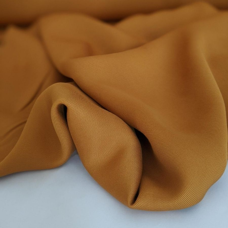 Sanded Tencel Twill in Golden Tan fourth view