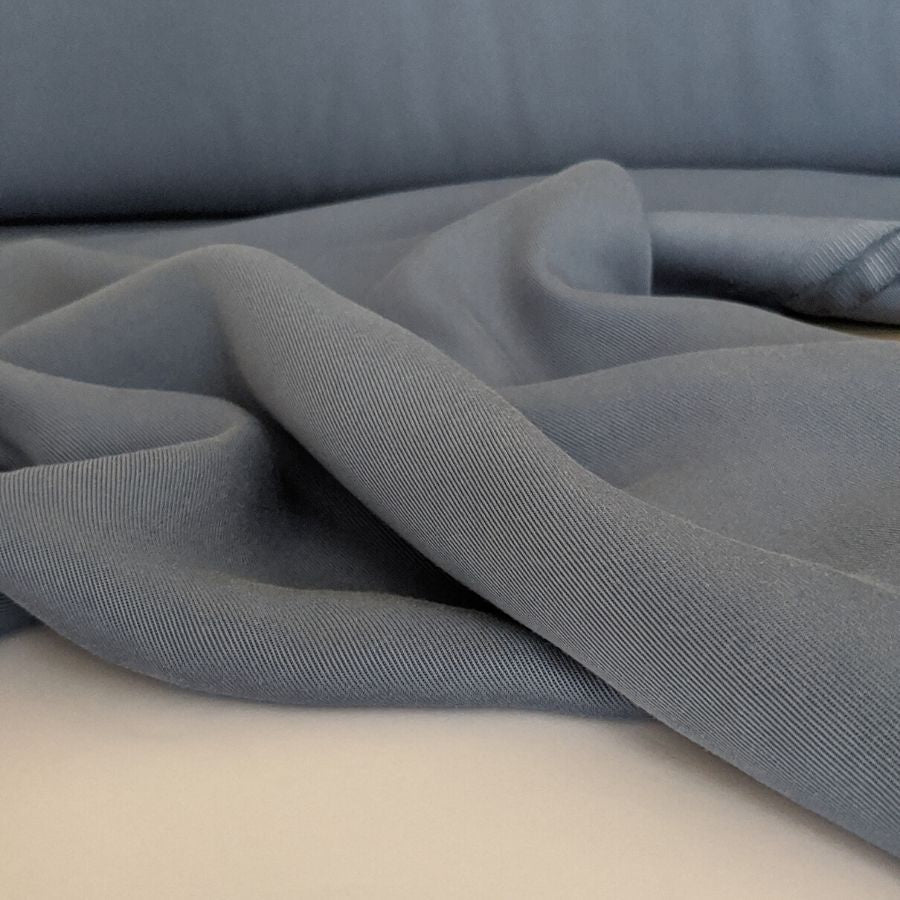 Sanded Tencel Twill in Faded Blue second  view