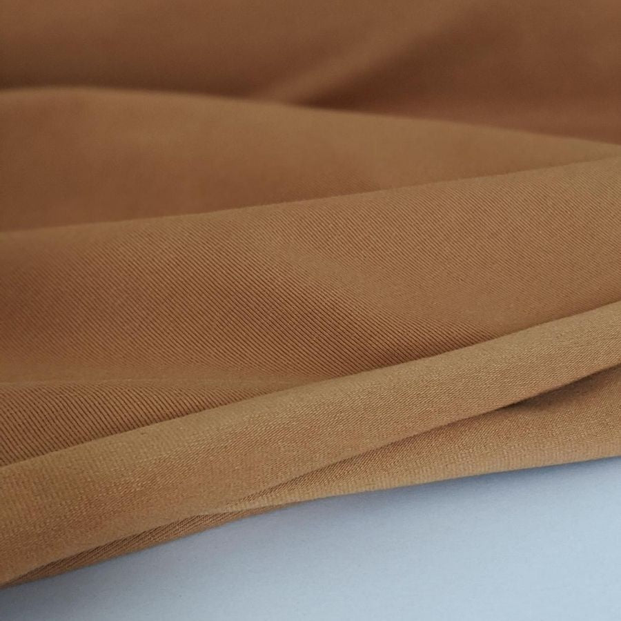 Stof Fabric Avalana Jersey in Camel zoomed in