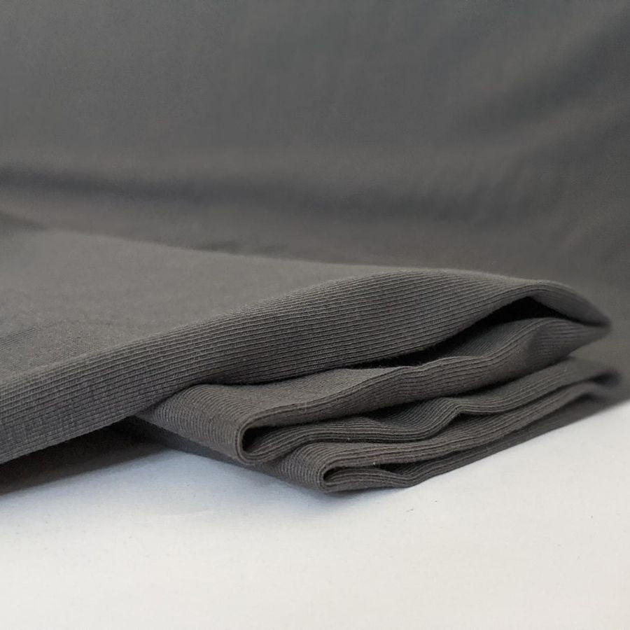Stof Fabric Avalana Jersey in Grey close up