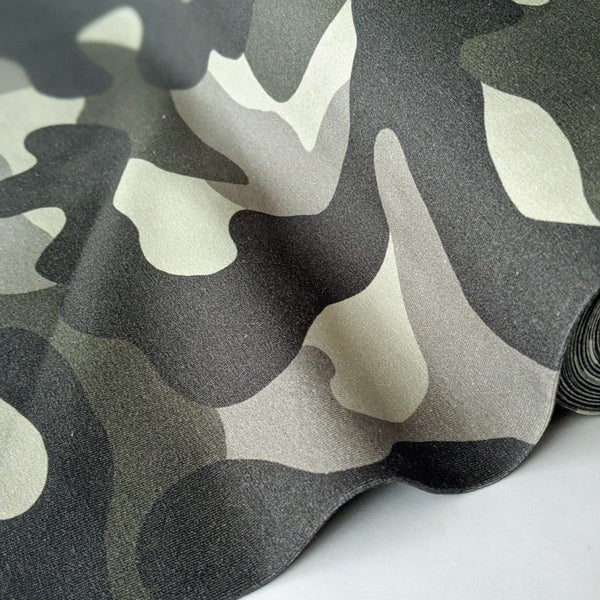 Stof Fabric Avalana Jersey khaki camo close up