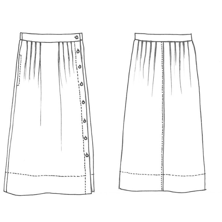 Tessuti Pattern Madden Skirt Sketch