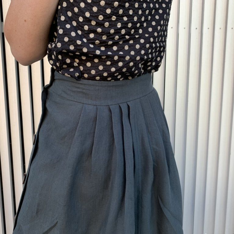 Tessuti Patterns Madden skirt back view