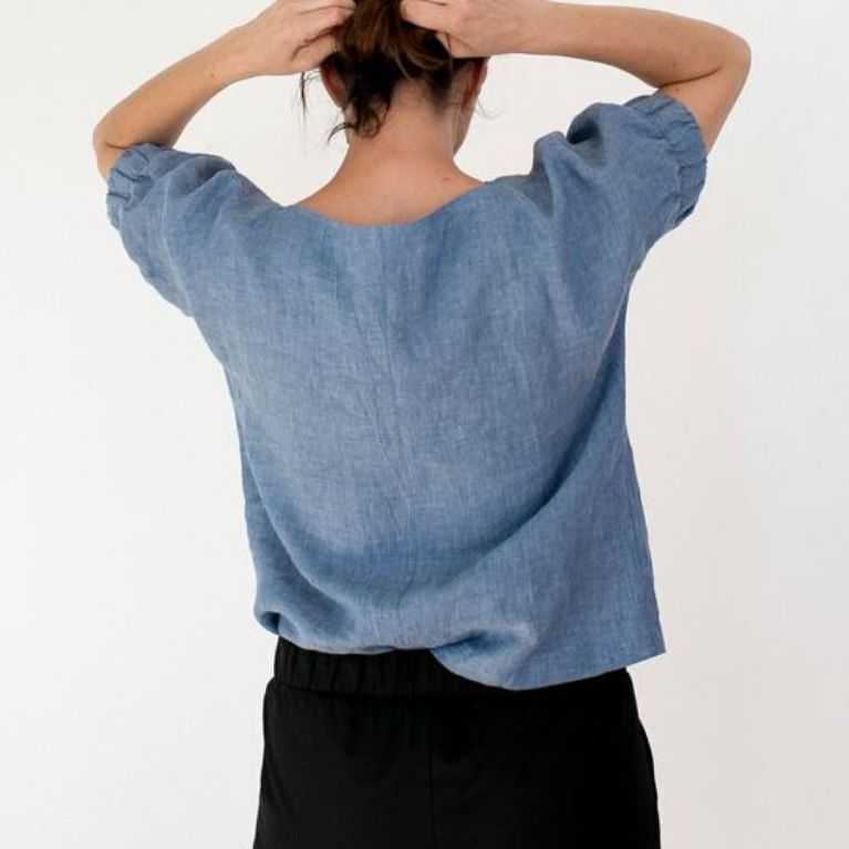 The Assembly Line Cuff Top pattern back