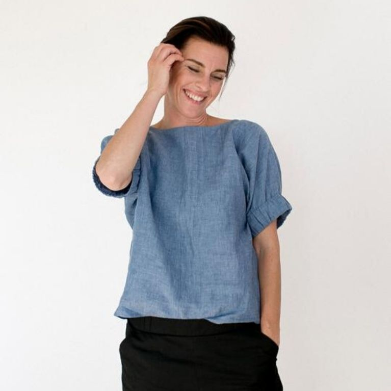 The Assembly Line Cuff Top pattern front