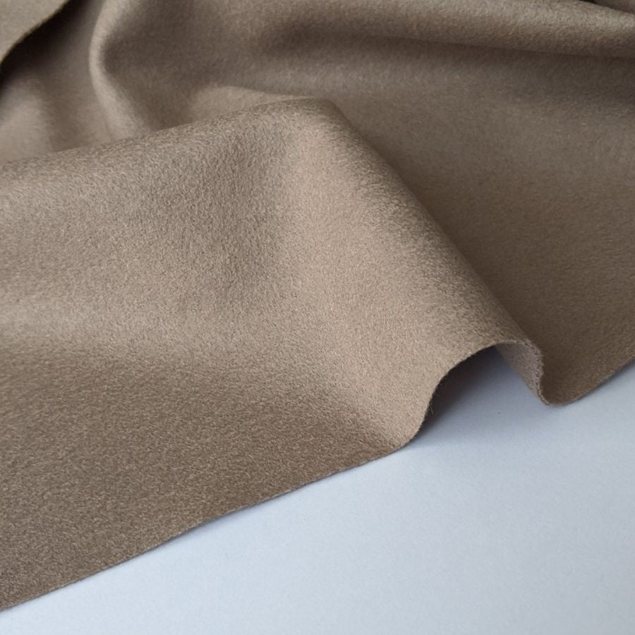 Cashmere wool ex designer fabric in mauve colour