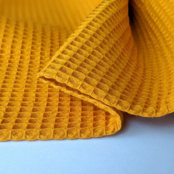 Good Fabric waffle cotton in Marigold