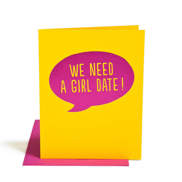 Girl Date card - Wynwood Letterpress
