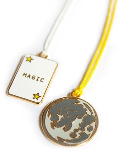 Magic Moon Charm Necklace - Wynwood Letterpress