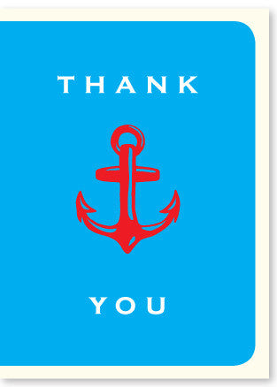 Anchor Thank You Enclosure - Wynwood Letterpress