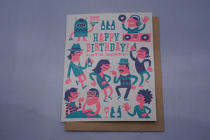 Hipster Birthday - Single Card