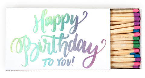Happy Birthday Matches - Wynwood Letterpress  - 1