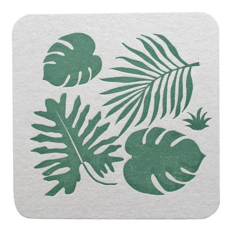 Tropical Leaves Party Coasters - Wynwood Letterpress