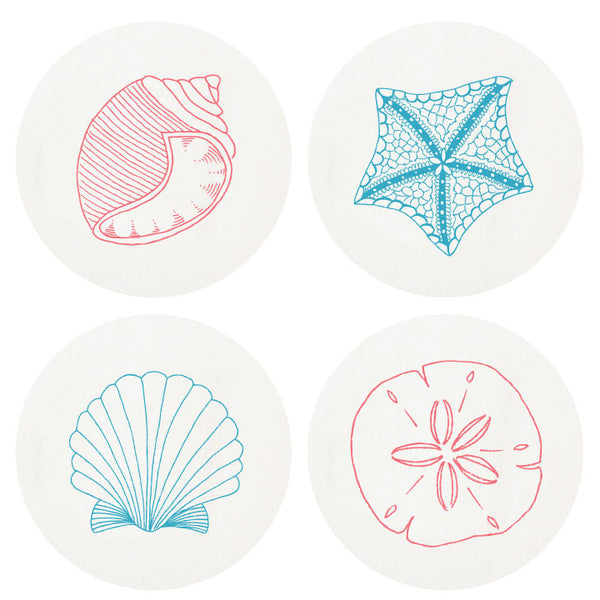 Beach Boxed Letterpress Coasters