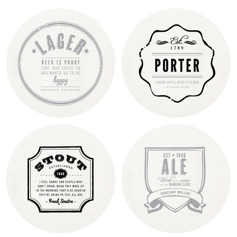"""Beer Me"" Boxed Letterpress Coasters - Wynwood Letterpress  - 1"