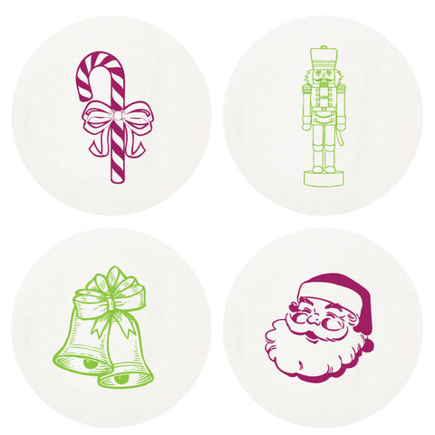 Christmas Boxed Letterpressed Coasters - Wynwood Letterpress