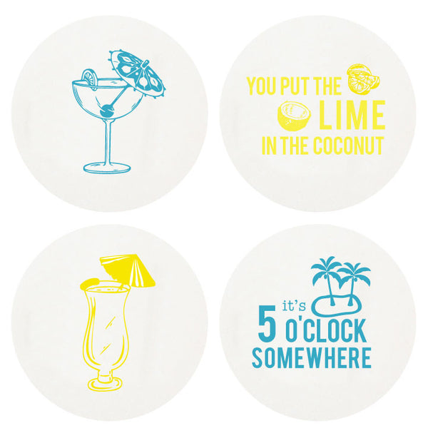 Happy Hour Coaster - Wynwood Letterpress