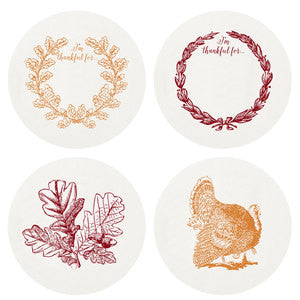 Thanksgiving Boxed Letterpress Coasters - Wynwood Letterpress