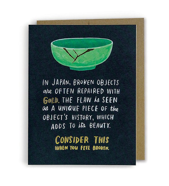 In Japan broken objects are repaired with gold - Wynwood Letterpress