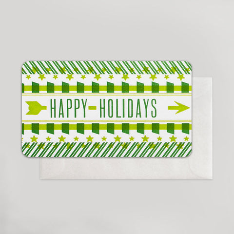 Happy Holidays Arrow Enclosure - Wynwood Letterpress
