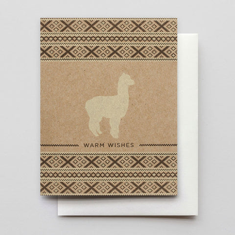 Alpaca Warm Wishes - Boxed cards - Wynwood Letterpress