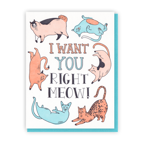 I Want You Right Meow - Wynwood Letterpress  - 1