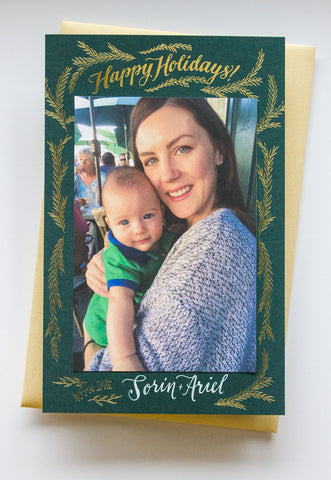 Happy Holidays Photo Card Boxed Set - Wynwood Letterpress  - 1