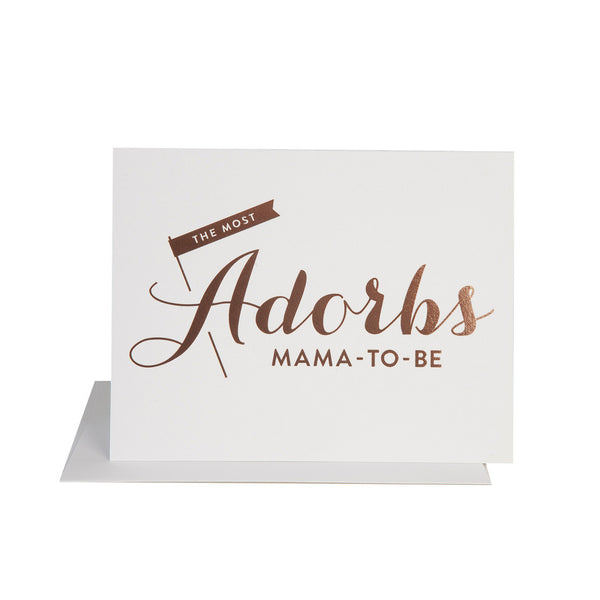 Adorbs Mama to Be Card - Wynwood Letterpress