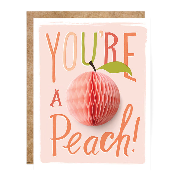You're a Peach! Pop Up Card - Wynwood Letterpress