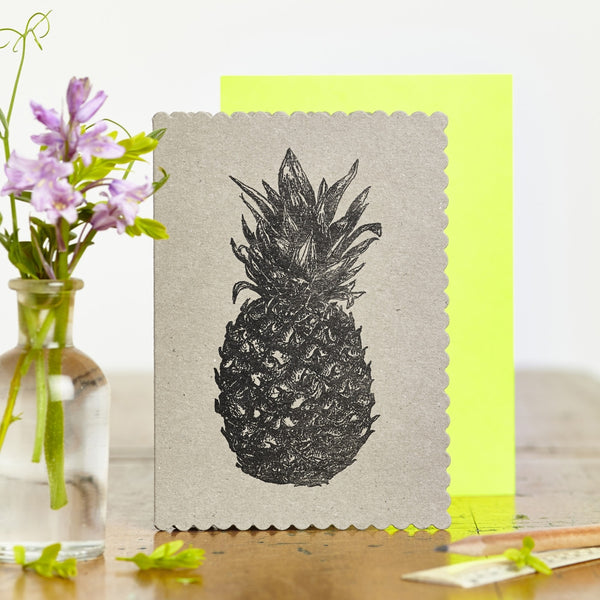 Pineapple Kraft Card - Wynwood Letterpress