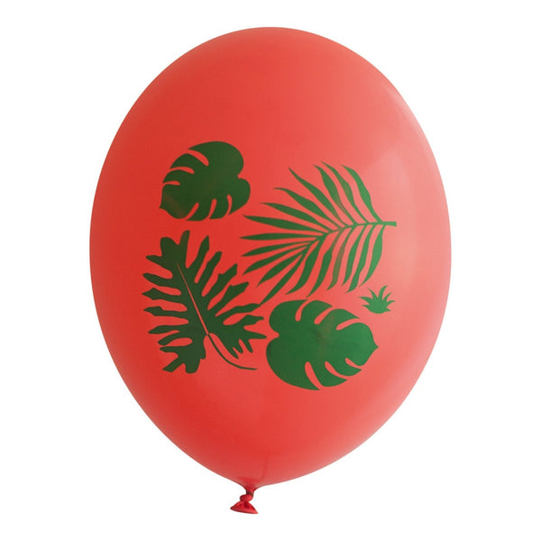 Tropical Leaves on Guava Balloons - Wynwood Letterpress