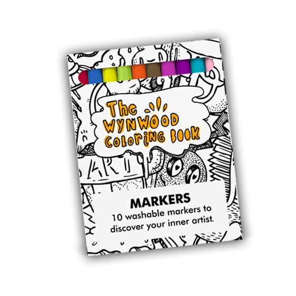 Wynwood Coloring Book Markers - Wynwood Letterpress
