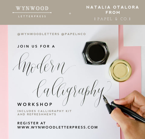 Modern Calligraphy Workshop | February, March + April Dates - Wynwood Letterpress