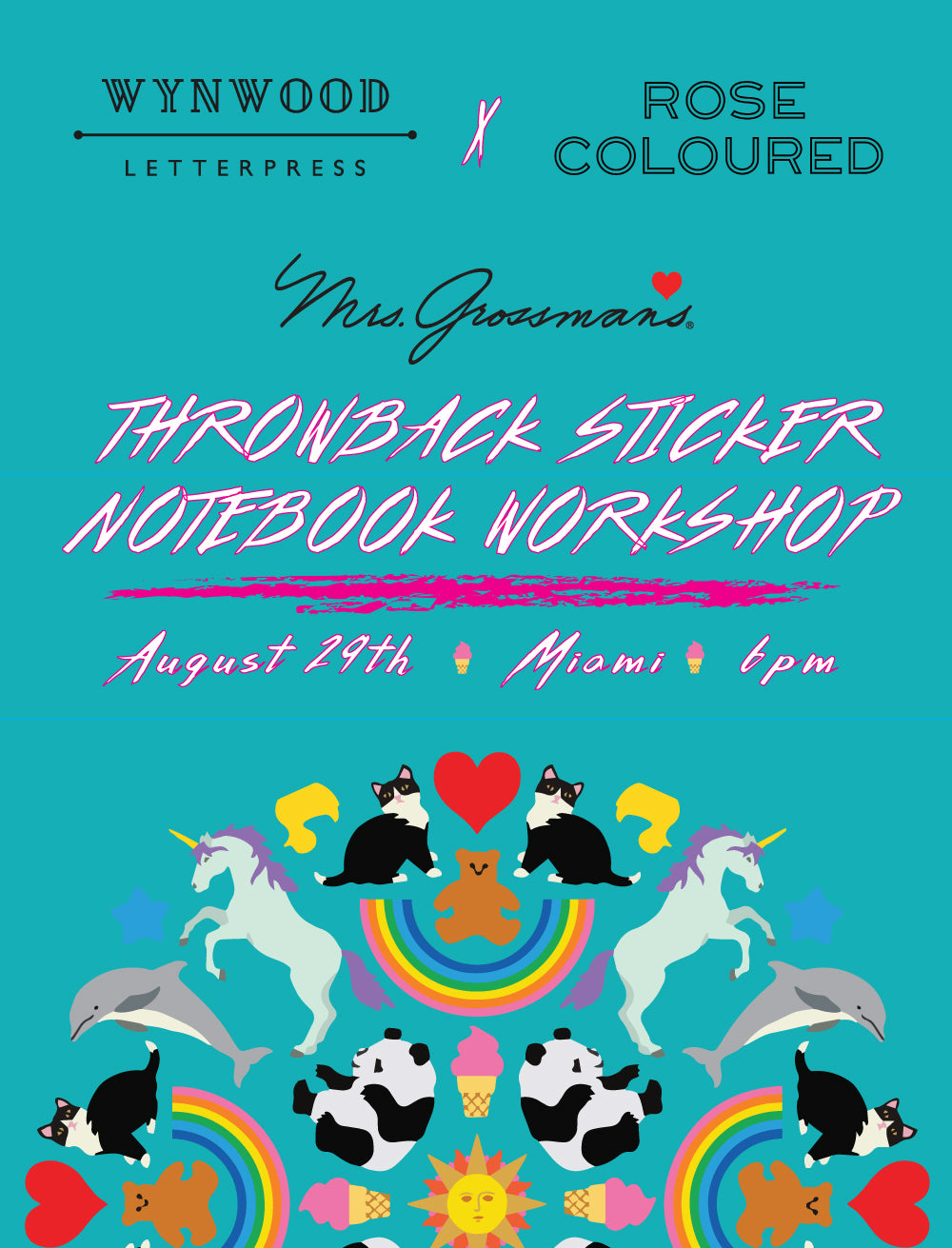 THROWBACK STICKER NOTEBOOK WORKSHOP