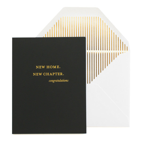 New Home. New Chapter. Card - Wynwood Letterpress