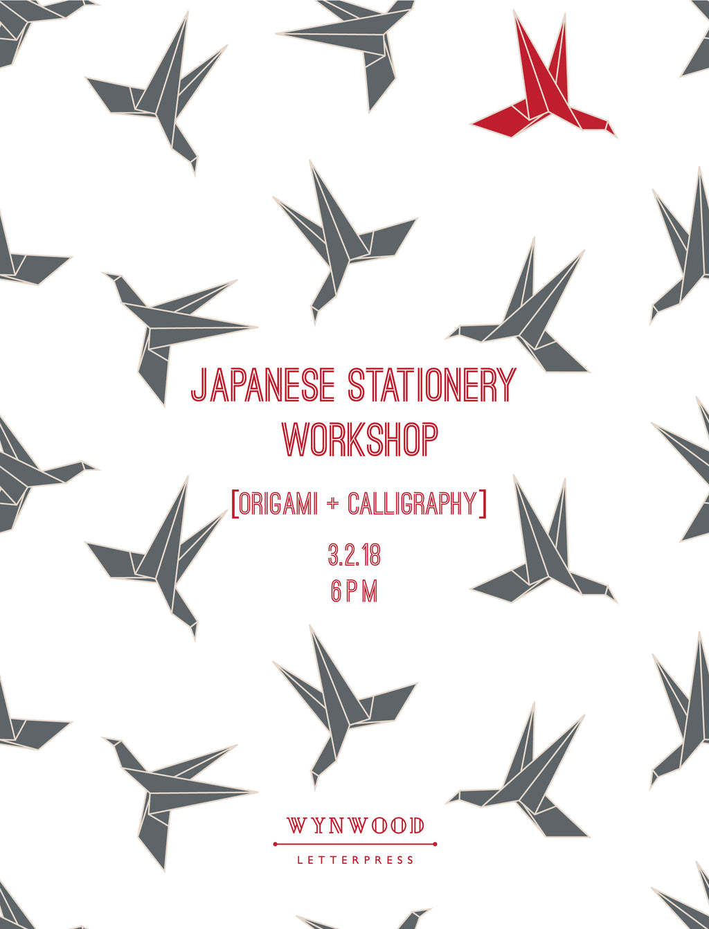 JAPANESE STATIONERY WORKSHOP : ORIGAMI + CALLIGRAPHY + SUSHI