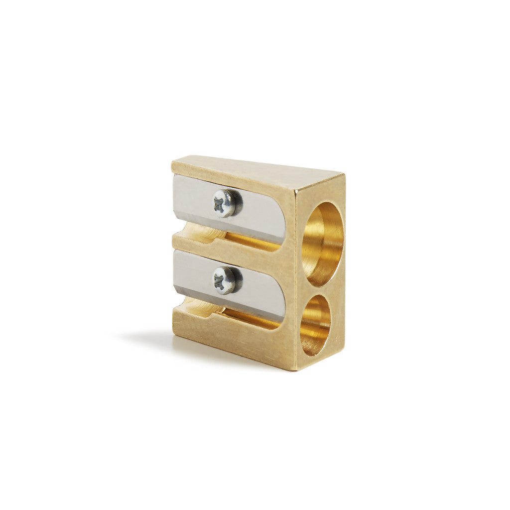 Brass Pencil Sharpener Wedge - Wynwood Letterpress