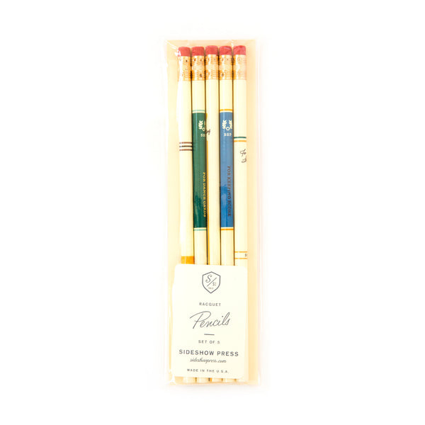 Racquet Pencils - Wynwood Letterpress