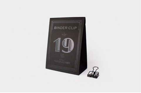 Black Binder Clip - Wynwood Letterpress  - 1