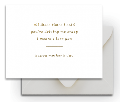 Crazy Mother's Day Card