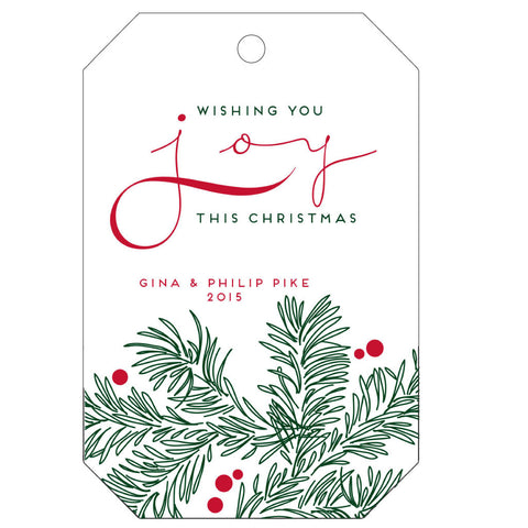 Personalized Letterpress Gift Tags - T34 - Wynwood Letterpress  - 1