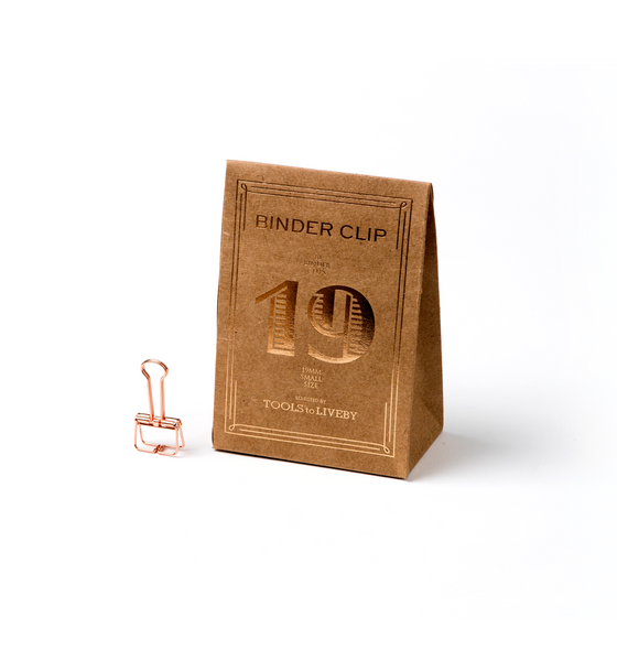 Rose Gold Binder Clip - Wynwood Letterpress  - 1