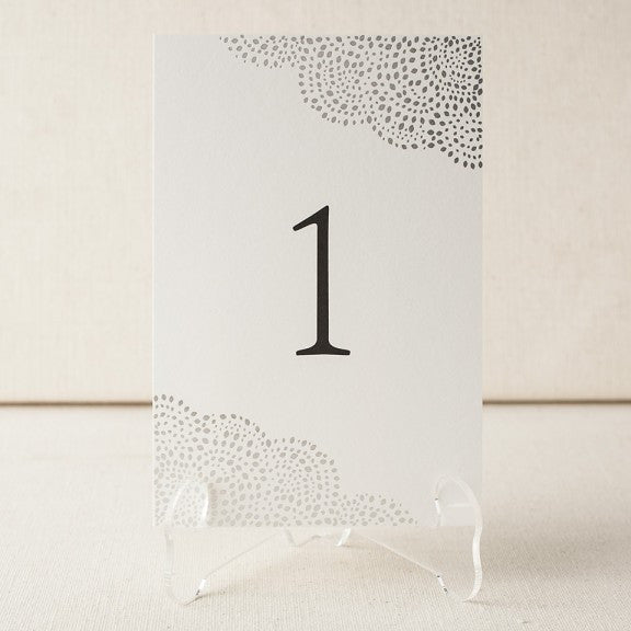 Rainier Table Numbers - Wynwood Letterpress  - 2