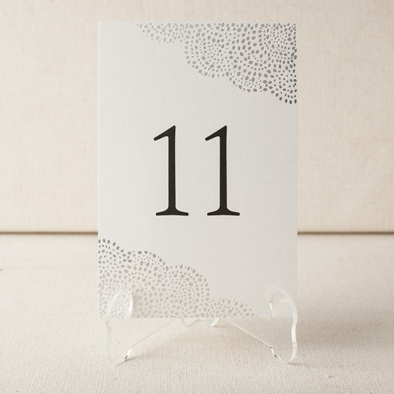 Rainier Table Numbers - Wynwood Letterpress  - 3